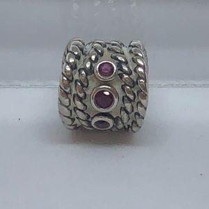 Pandora Rope with purple stone